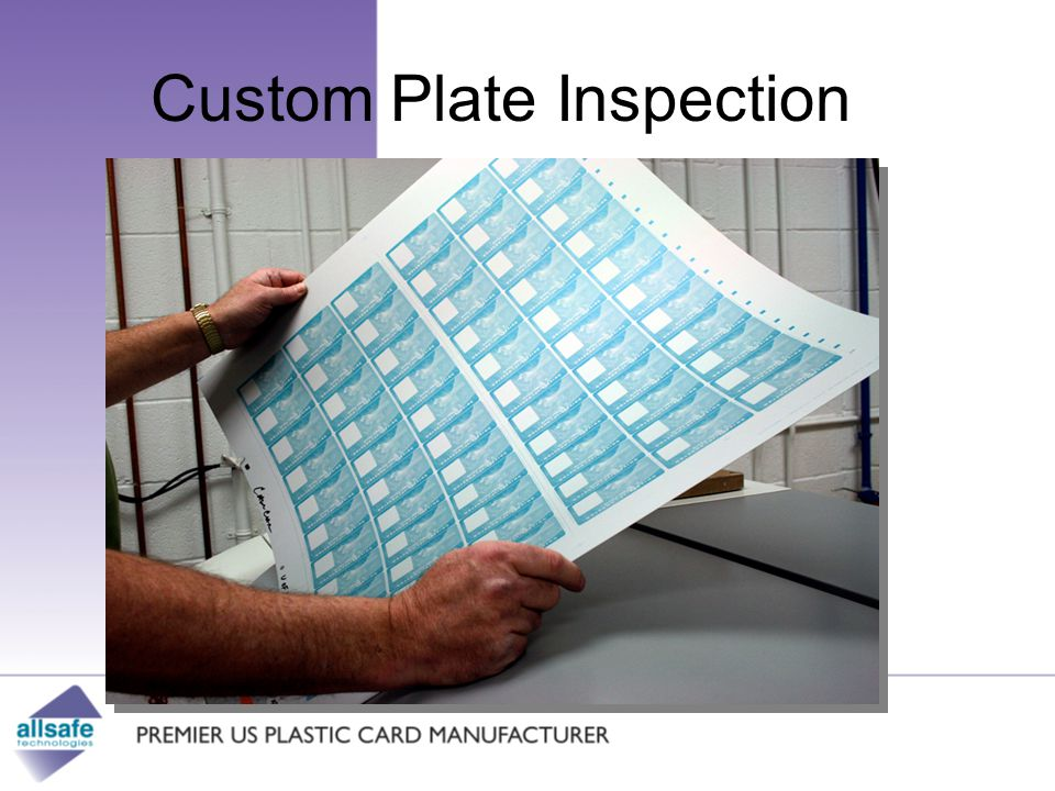 Custom Plate Inspection Security Recreation Healthcare