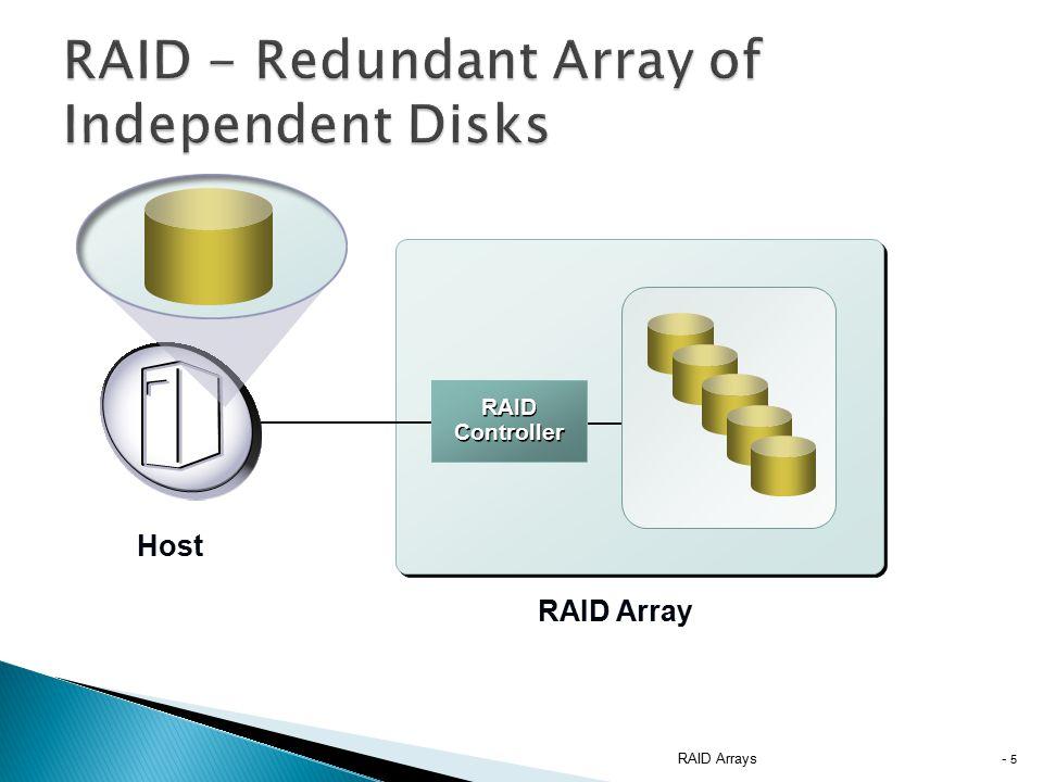 RAID Arrays - 5 RAID Controller RAID Array Host