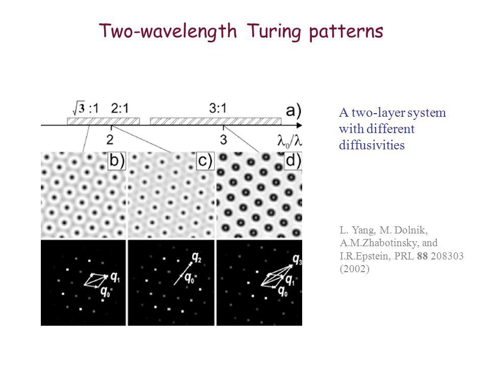 Two-wavelength Turing patterns L. Yang, M.