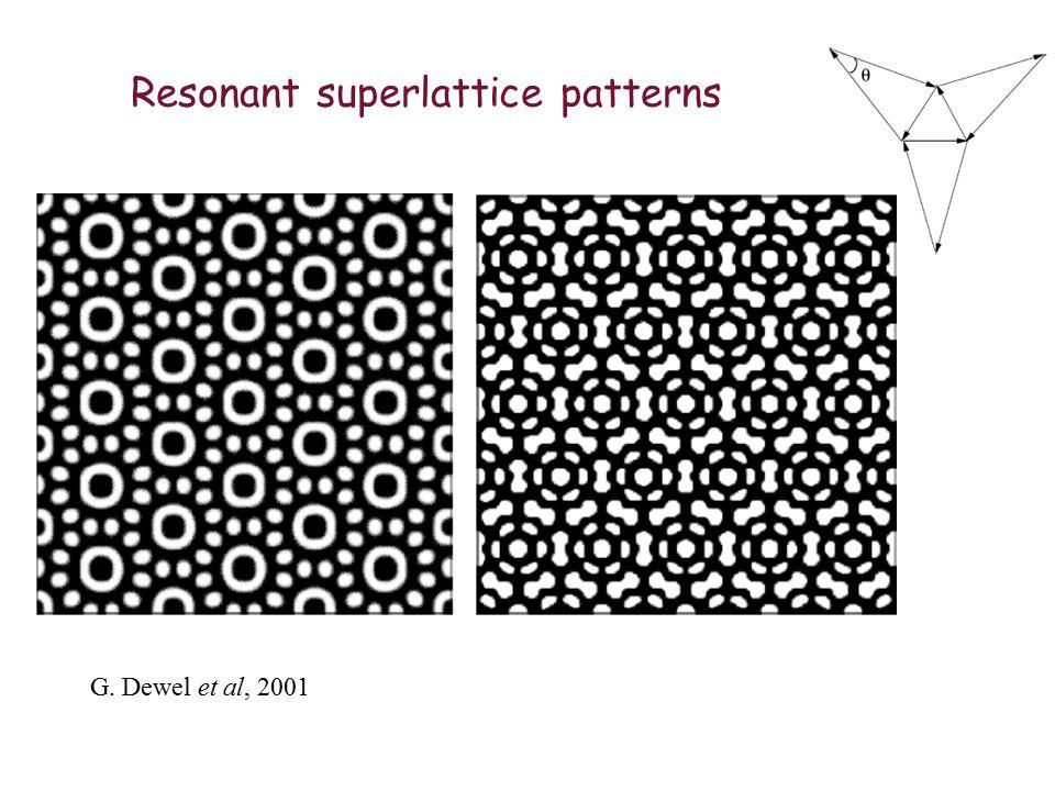Resonant superlattice patterns G. Dewel et al, 2001