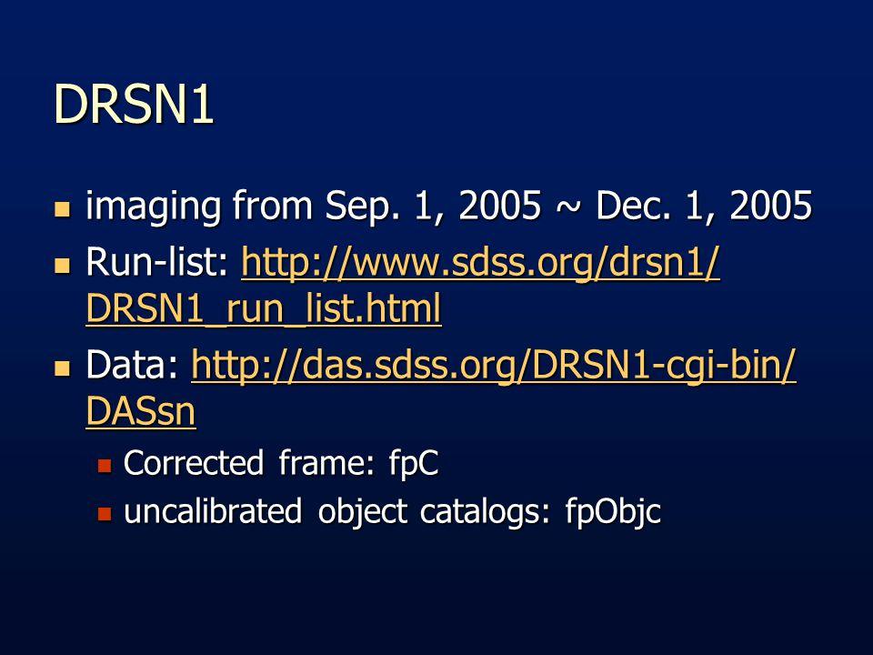 DRSN1 imaging from Sep. 1, 2005 ~ Dec. 1, 2005 imaging from Sep.