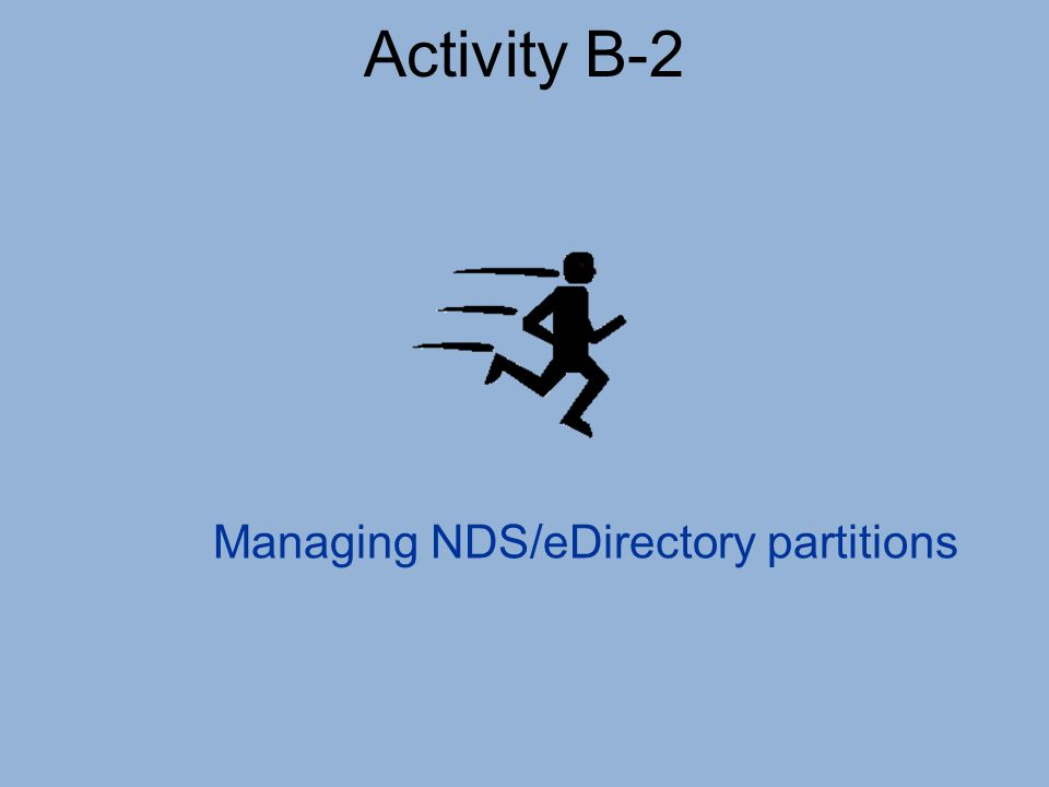 Activity B-2 Managing NDS/eDirectory partitions
