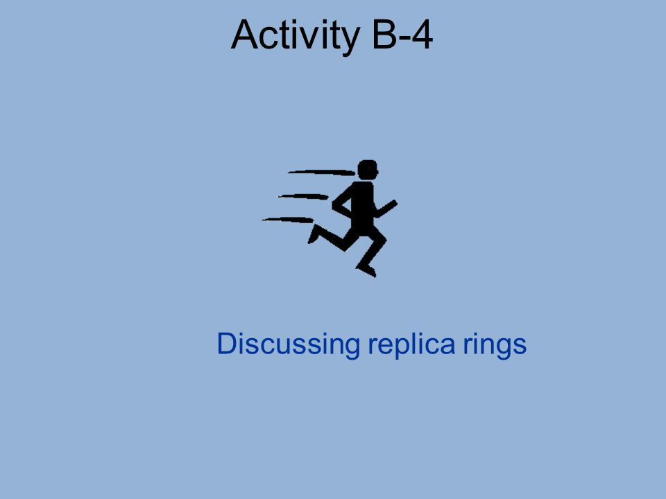Activity B-4 Discussing replica rings