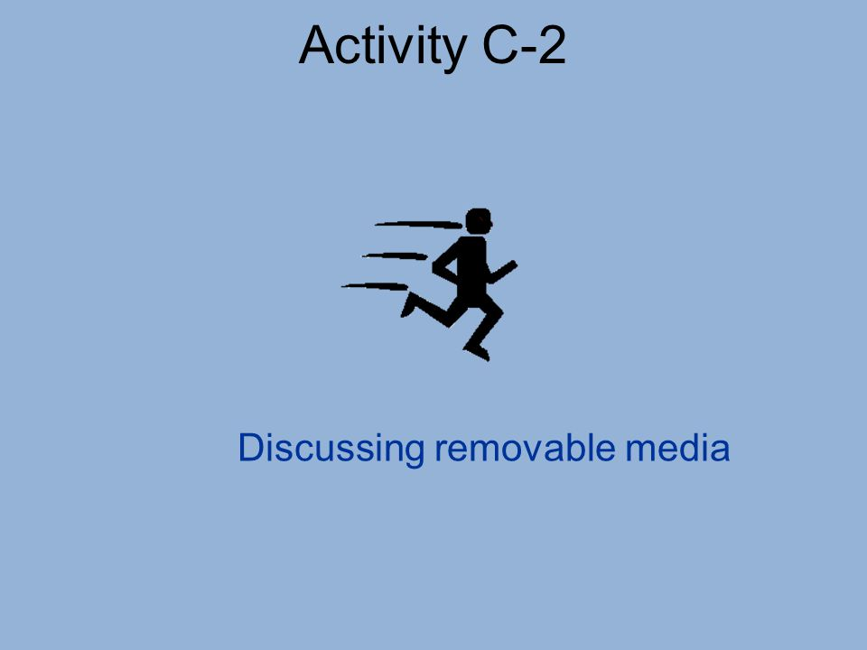 Activity C-2 Discussing removable media