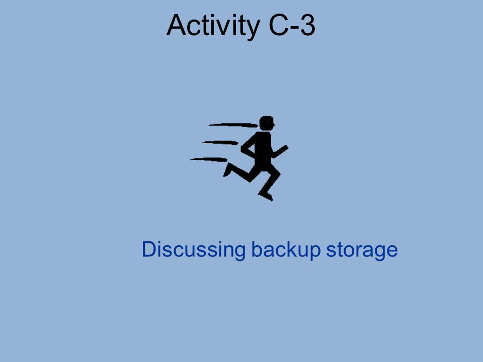 Activity C-3 Discussing backup storage