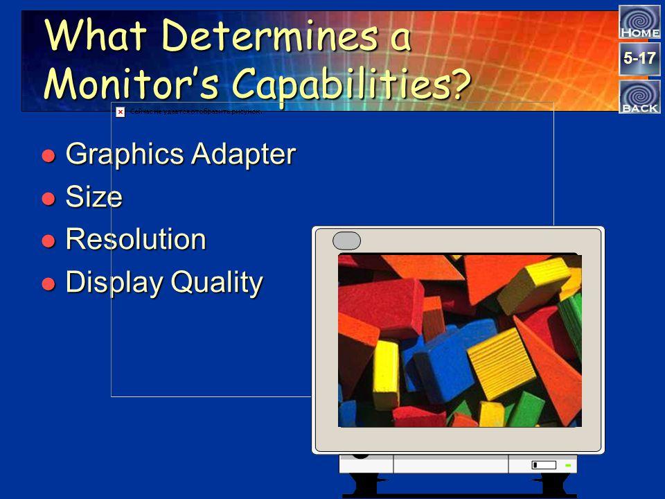 5-16 Output Devices l Monitors l Printers l Multimedia Projectors l Voice - Response Systems Output