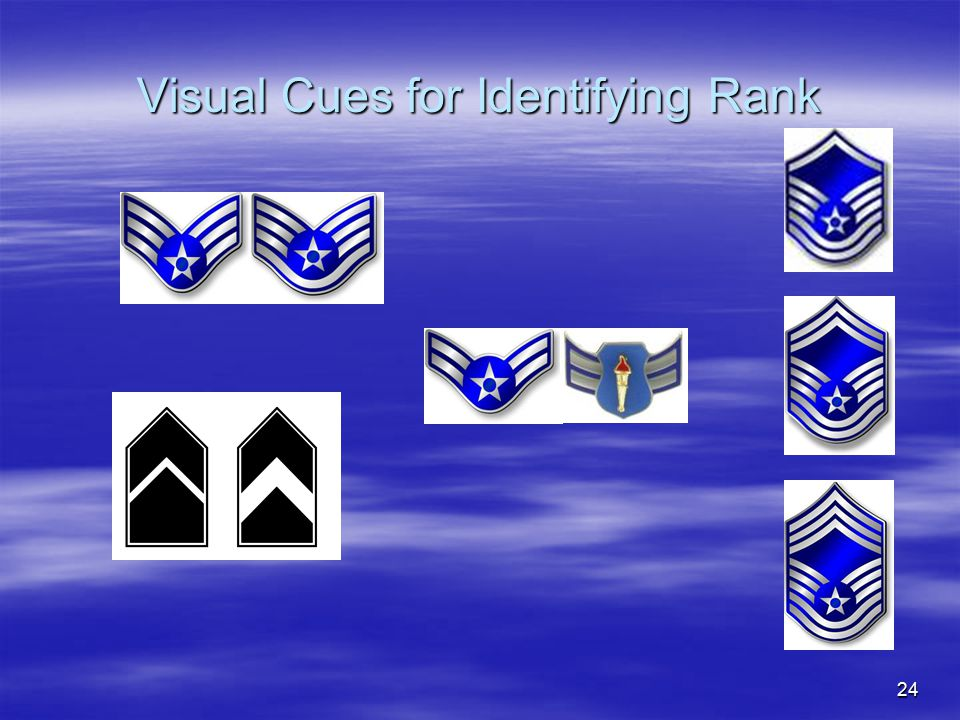 24 Visual Cues for Identifying Rank