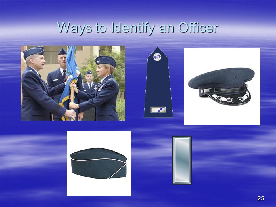 25 Ways to Identify an Officer