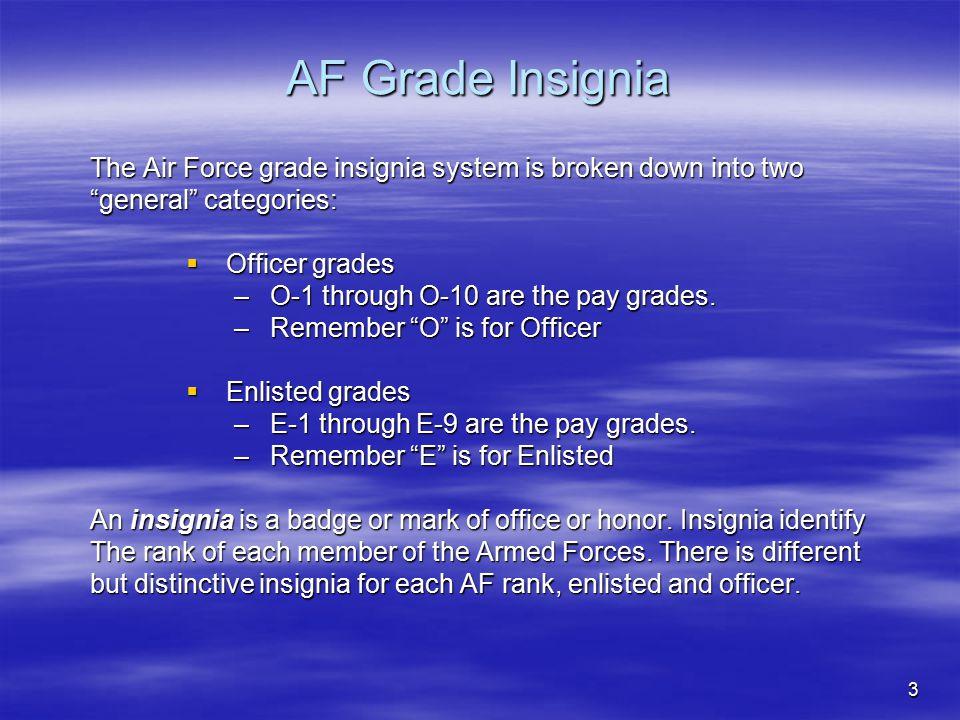 14 Field Grade Officers (O-4 to O-6)  Major (Maj).