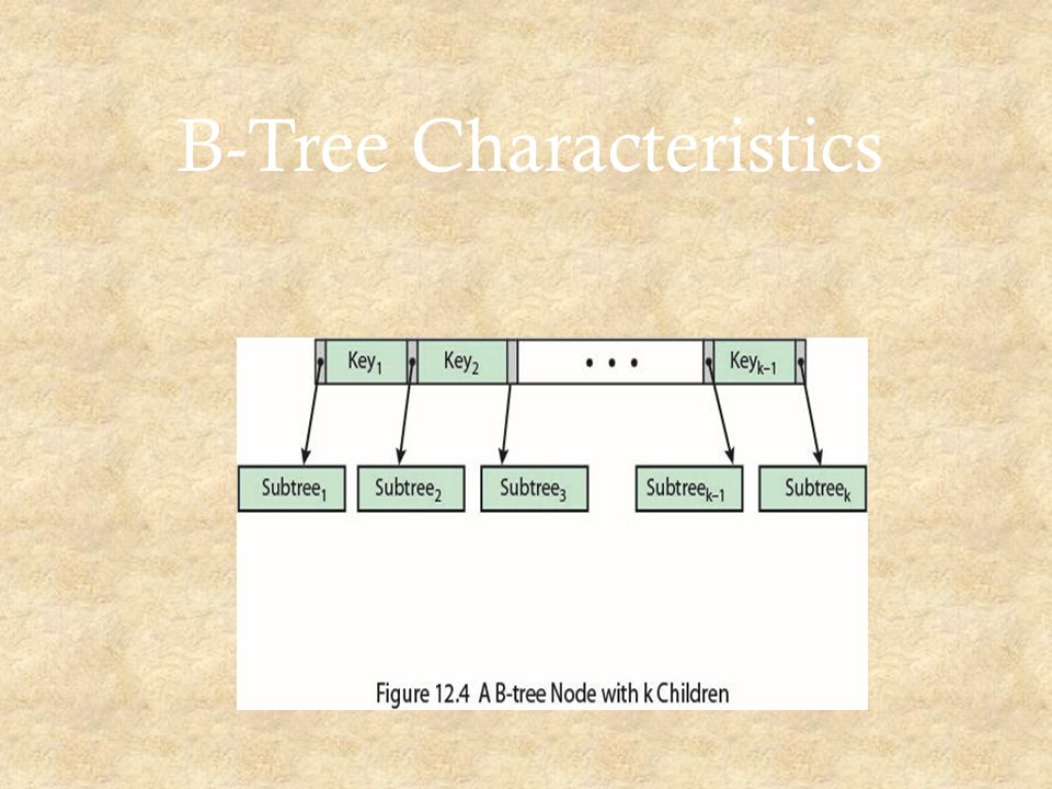 B-Tree Characteristics