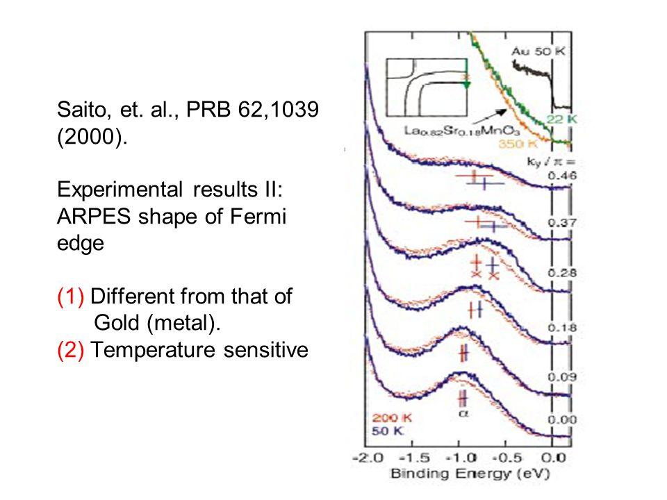 Saito, et. al., PRB 62,1039 (2000).
