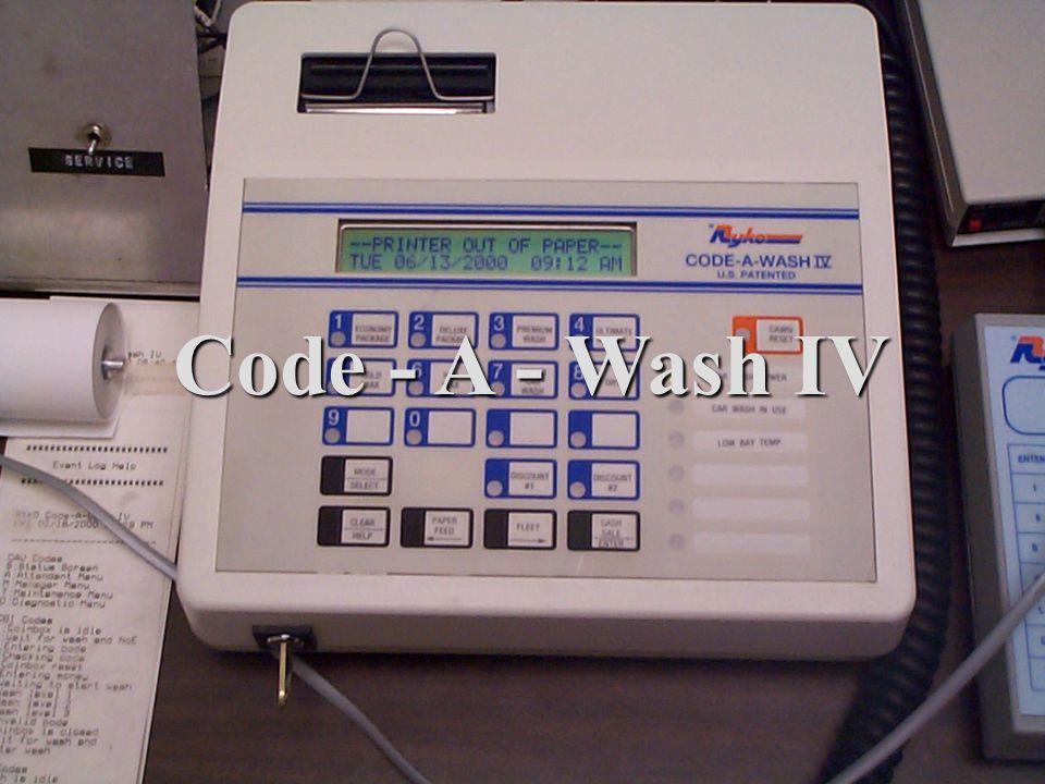 Code - A - Wash IV