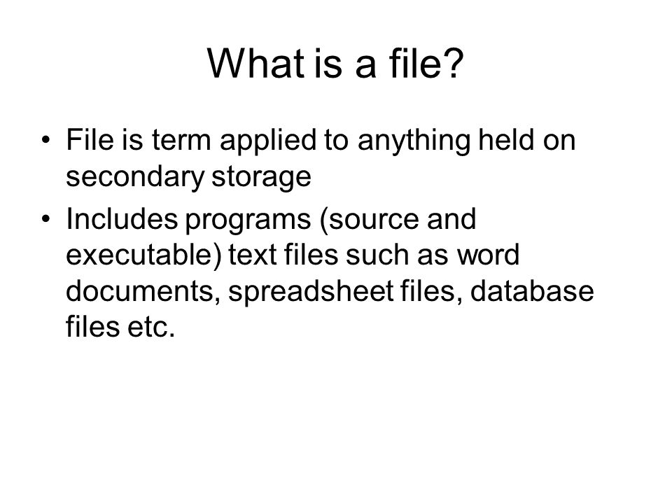 File naming MS DOS format is generally up to eight character name followed by a dot and then a three character extension.