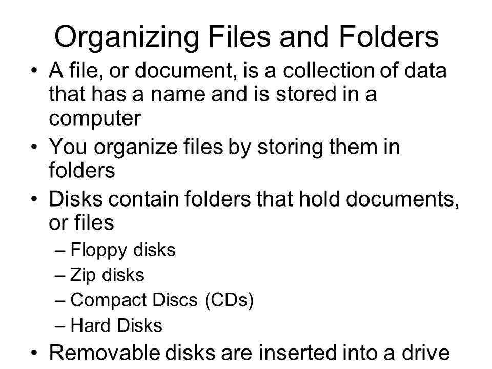 Organizing Files and Folders