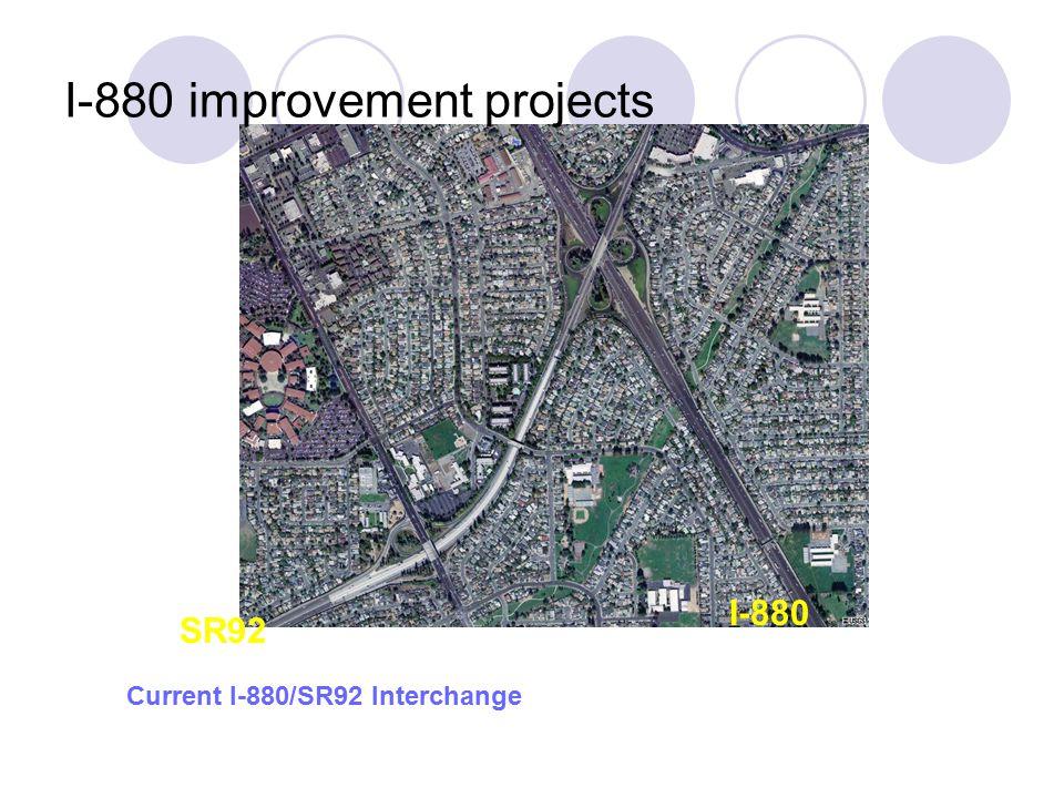 Current I-880/SR92 Interchange SR92 I-880 I-880 improvement projects