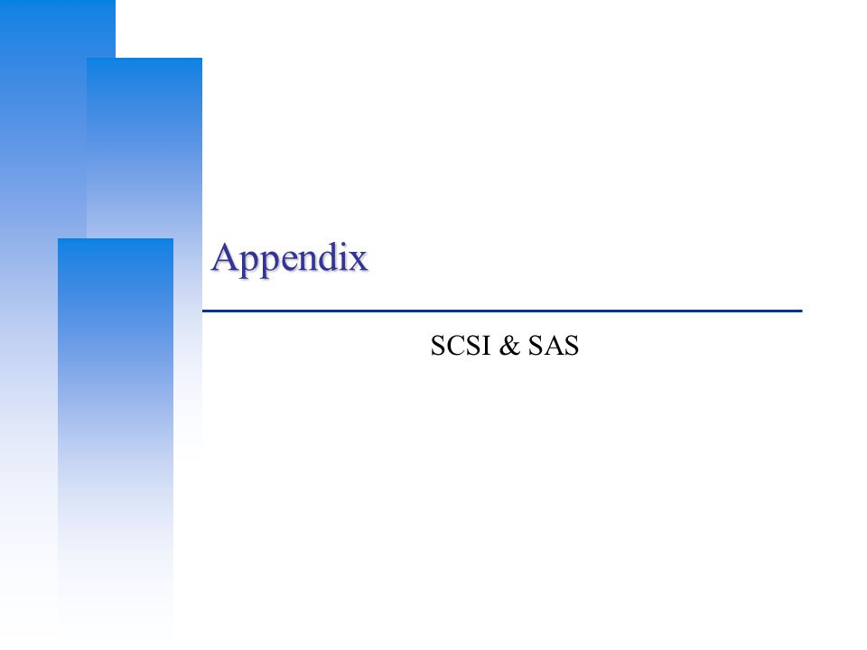 Appendix SCSI & SAS