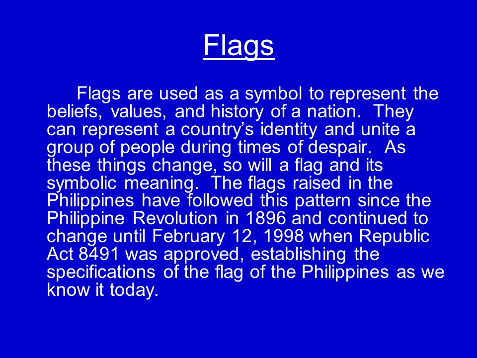 The Flags of the Philippine Revolution: The first flag of the Katipunan was a red rectangular flag with three K's lined up horizontally.