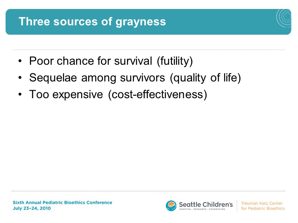 Poor survival rates Outcomes vary from center to center.