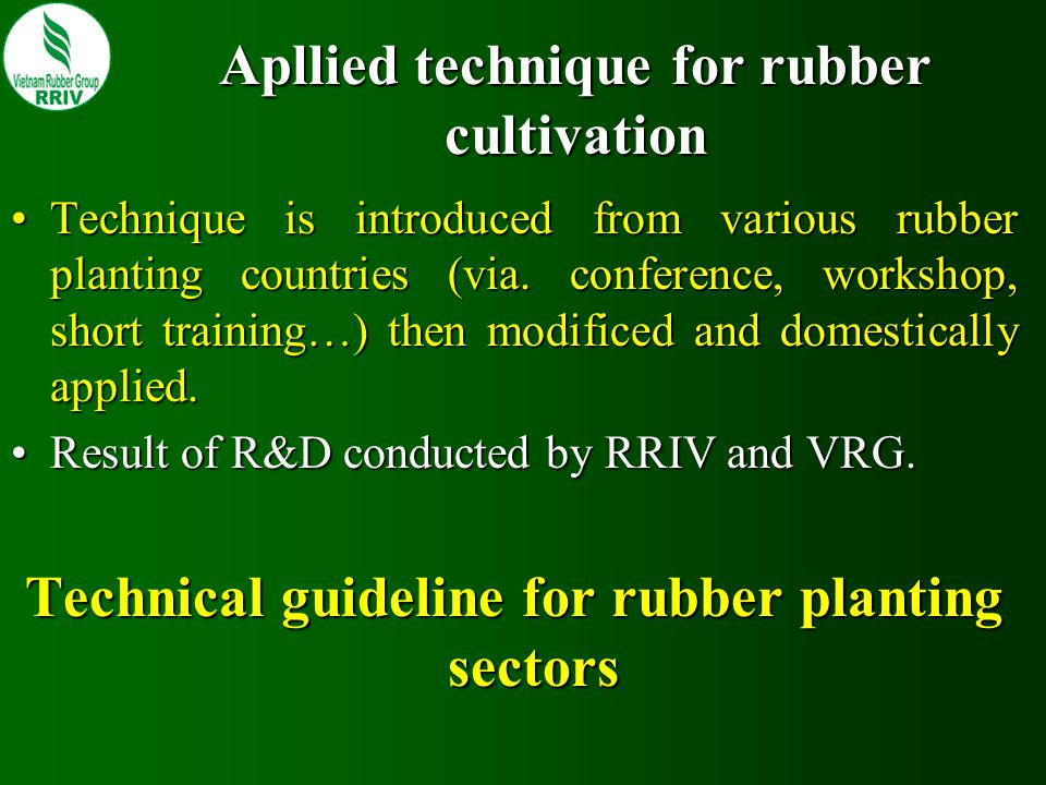 Rubber clone Rubber clone plays an inportant role for development of local rubber industry.Rubber clone plays an inportant role for development of local rubber industry.