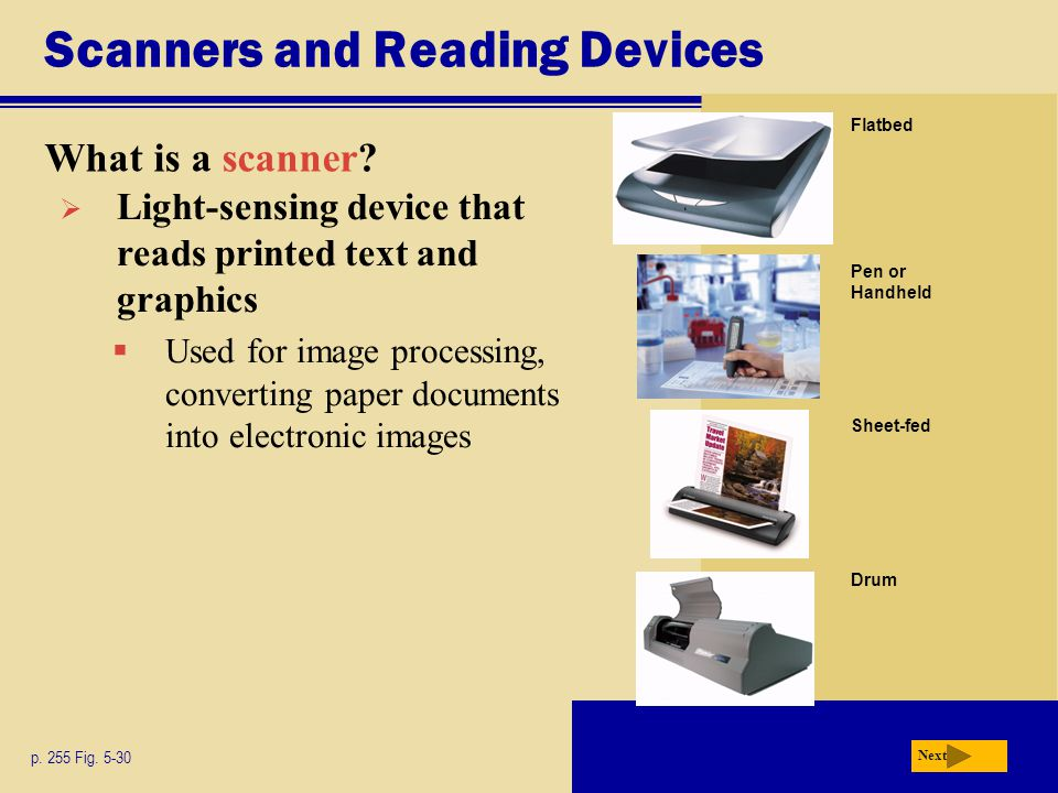 Scanners and Reading Devices What is a scanner.p.