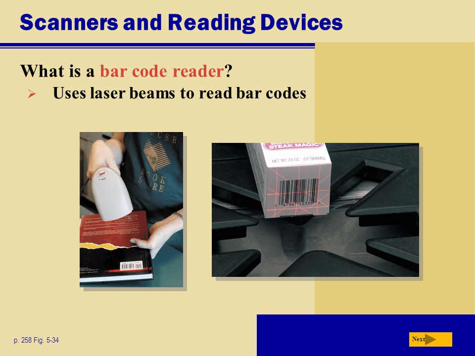 Scanners and Reading Devices What is a bar code reader.