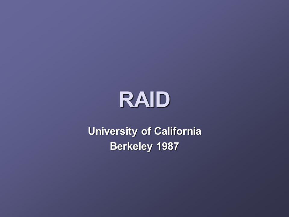RAID University of California Berkeley 1987