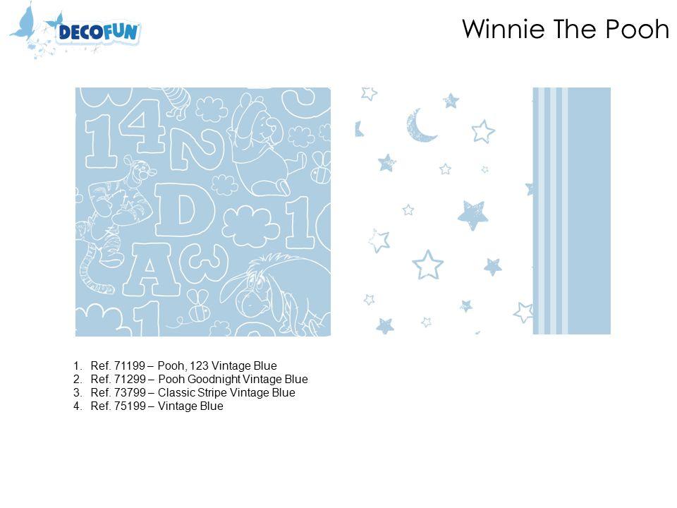 Winnie The Pooh 1.Ref. 71199 – Pooh, 123 Vintage Blue 2.Ref.