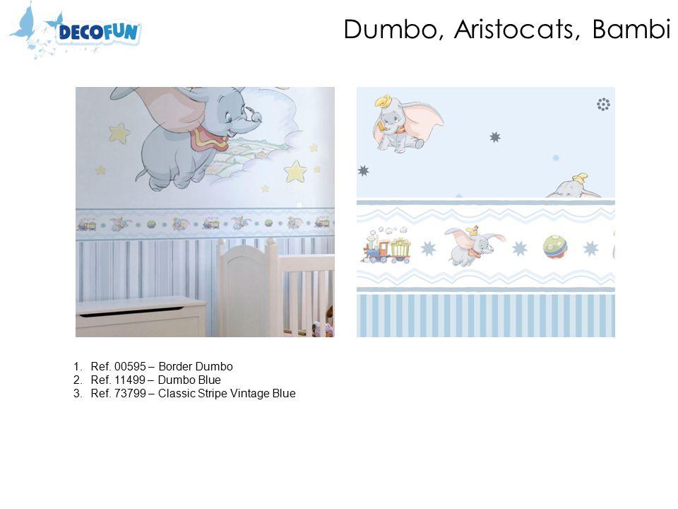 Dumbo, Aristocats, Bambi 1.Ref. 00595 – Border Dumbo 2.Ref.