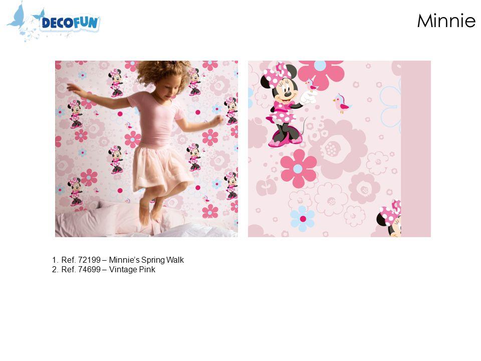 Minnie 1. Ref. 72199 – Minnie's Spring Walk 2. Ref. 74699 – Vintage Pink