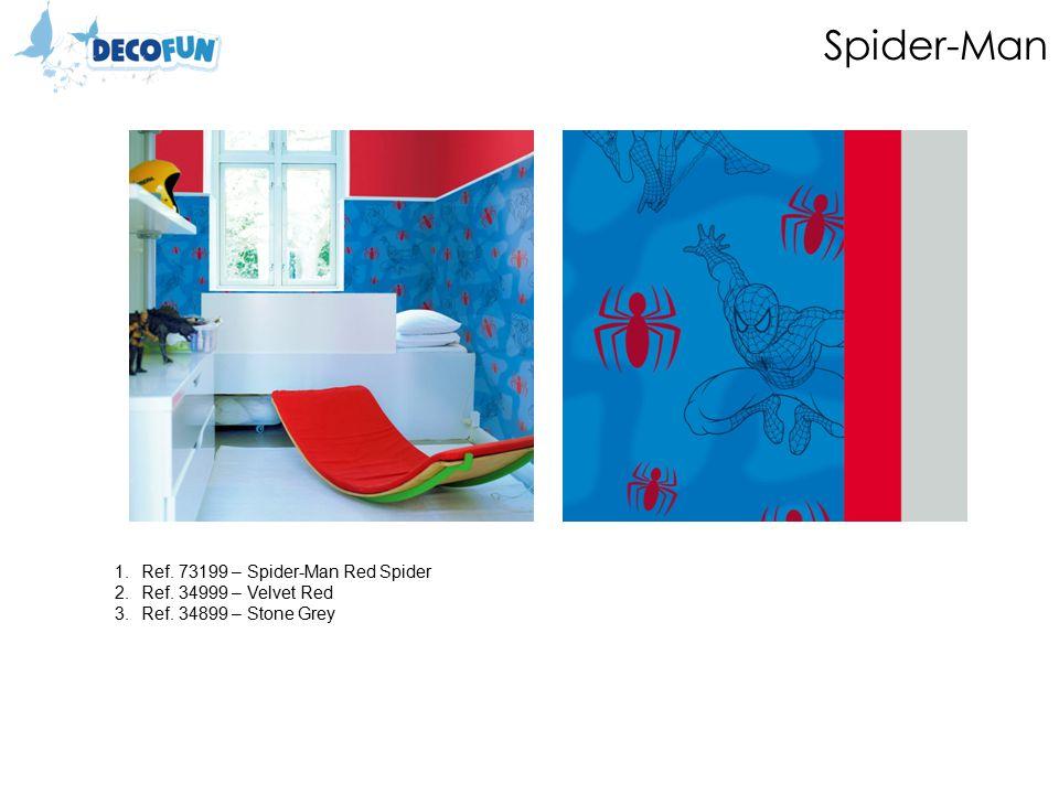Spider-Man 1.Ref. 73199 – Spider-Man Red Spider 2.Ref. 34999 – Velvet Red 3.Ref. 34899 – Stone Grey