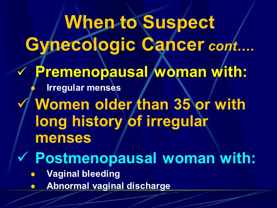 Morphological Changes of Cervical Cancer
