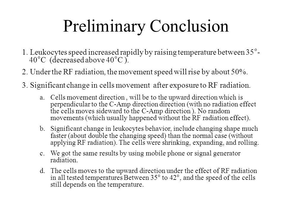 Preliminary Conclusion 1.