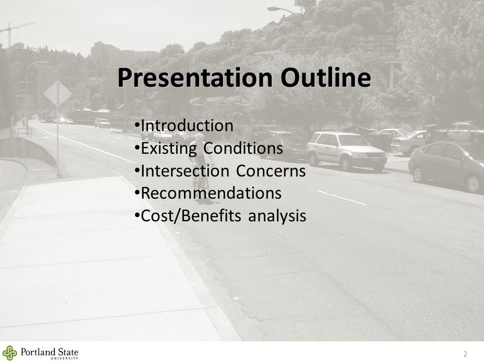 Presentation Outline 2 Introduction Existing Conditions Intersection Concerns Recommendations Cost/Benefits analysis