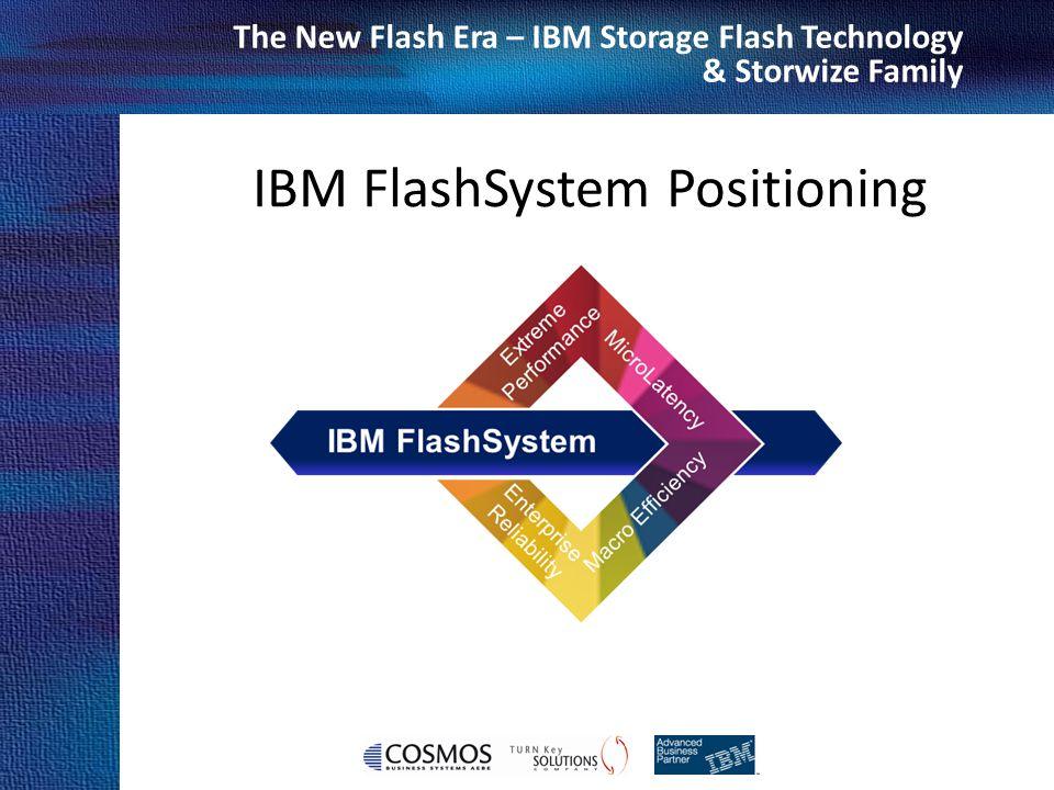 Cosmos Business Systems & IBM Hellas The New Flash Era – IBM Storage Flash Technology & Storwize Family IBM FlashSystem Positioning