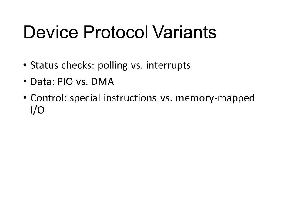 Device Protocol Variants Status checks: polling vs.