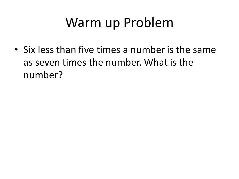 Homework Study for Quiz Practice Word Problems