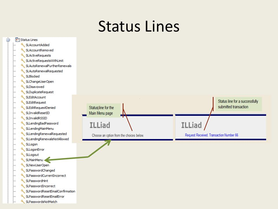 Status Lines