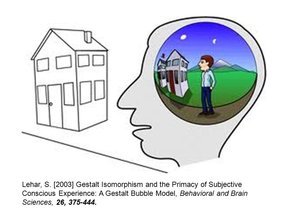 Lehar, S. [2003] Gestalt Isomorphism and the Primacy of Subjective Conscious Experience: A Gestalt Bubble Model, Behavioral and Brain Sciences, 26, 37