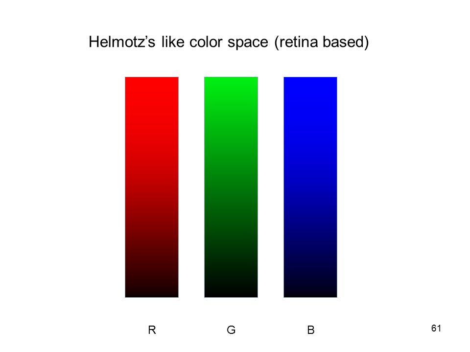 61 Helmotz's like color space (retina based) RGB