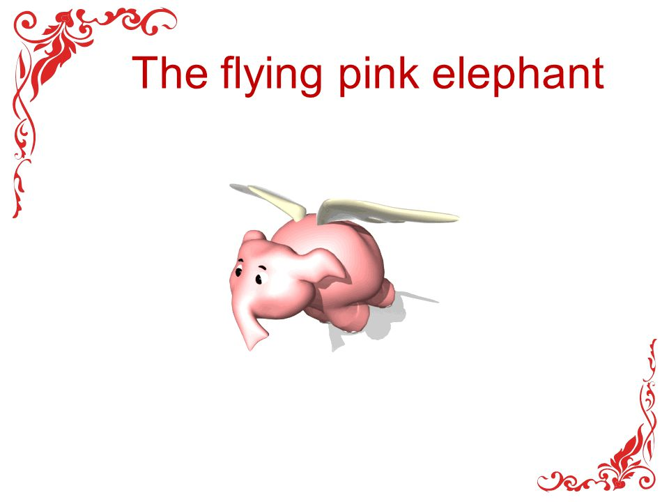 The flying pink elephant