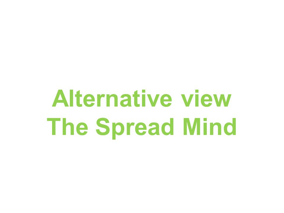 Alternative view The Spread Mind