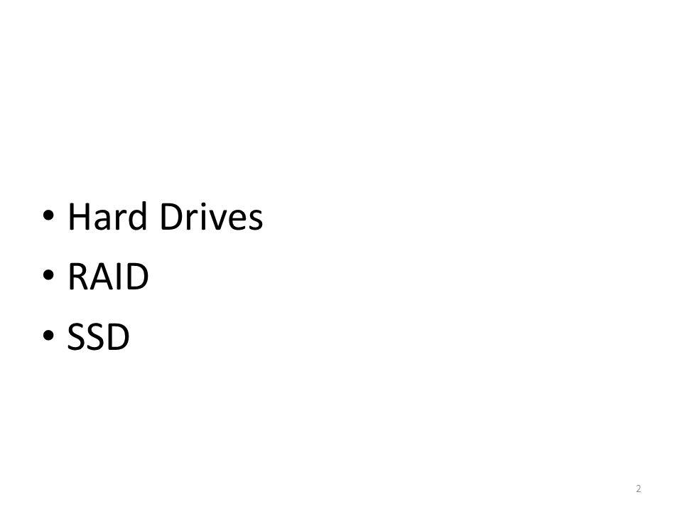 Hard Drives RAID SSD 2