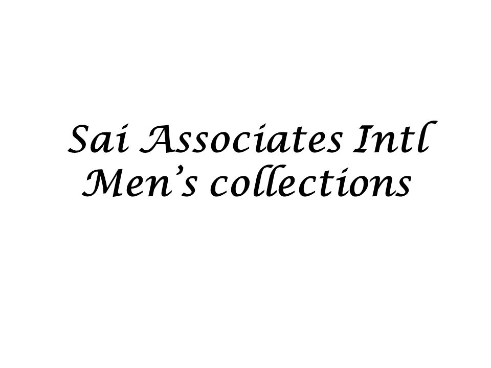 Sai Associates Intl Men's collections