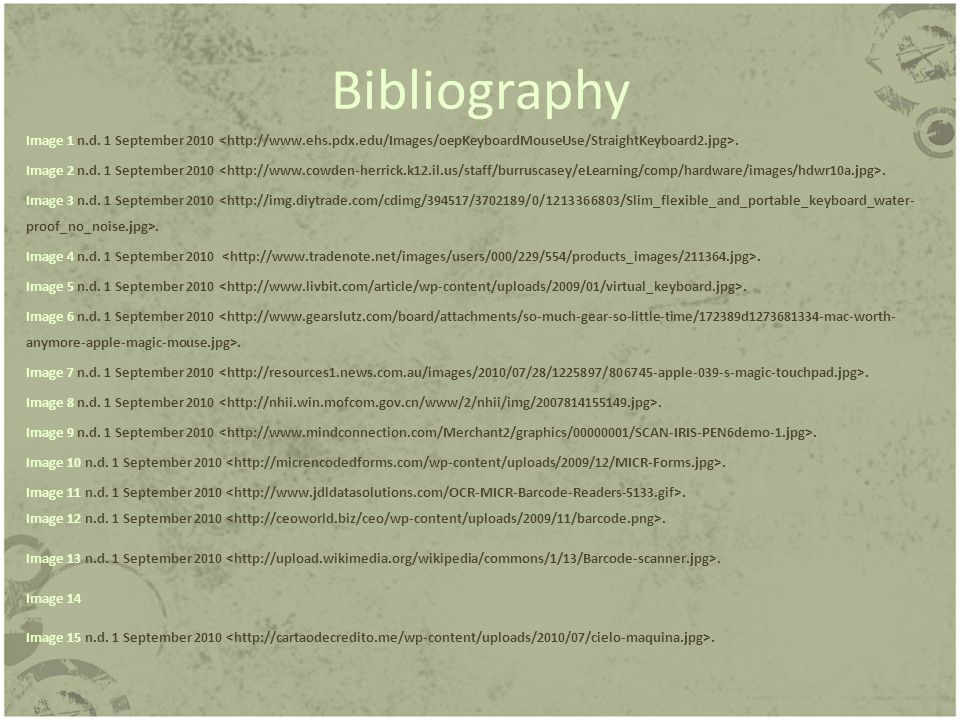 Bibliography Image 1 n.d. 1 September 2010. Image 2 n.d.