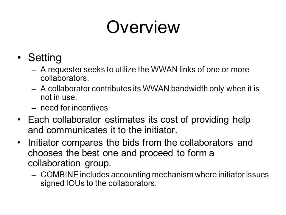 Once a collaboration group is formed COMBINE uses a work-queue algorithm to distribute work across collaborators.
