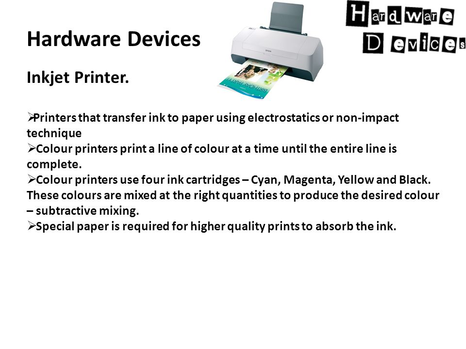 Hardware Devices Inkjet Printer.