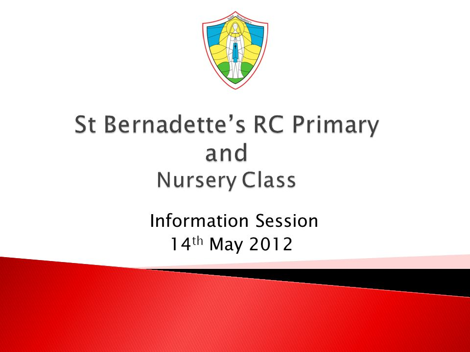 Information Session 14 th May 2012