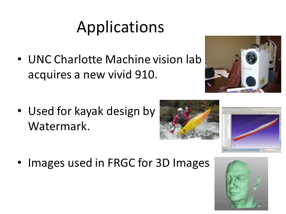 Applications UNC Charlotte Machine vision lab acquires a new vivid 910.