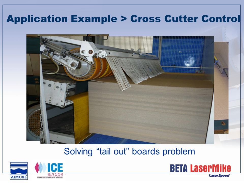 Solving tail out boards problem Z Application Example > Cross Cutter Control