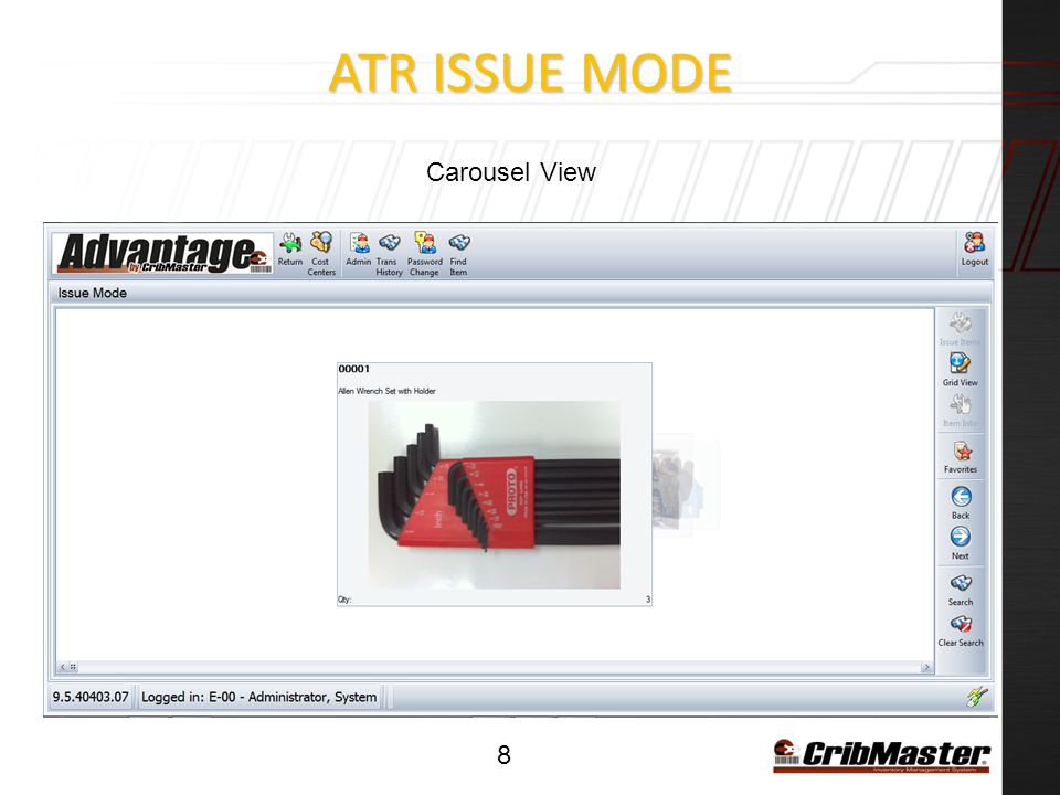 ATR ISSUE MODE 8 Carousel View